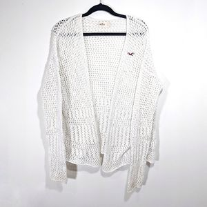 Hollister Crochet Cardigan Size Large